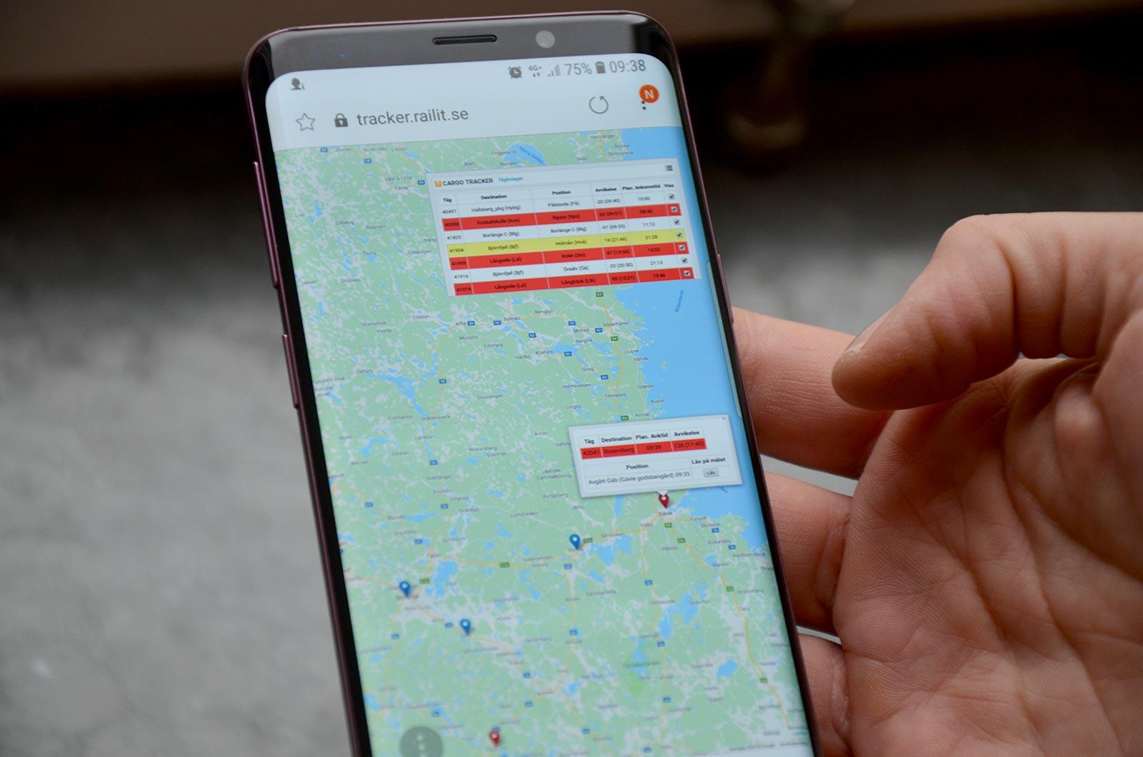 Cargo Tracker - mobiltelefon